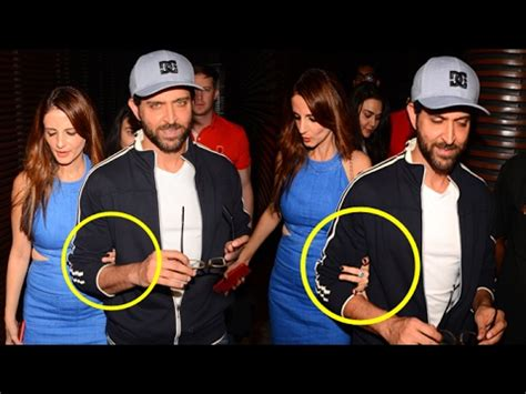 tattoo on hrithik roshan hand sussanne holds hrithik roshan s hand in public confirms