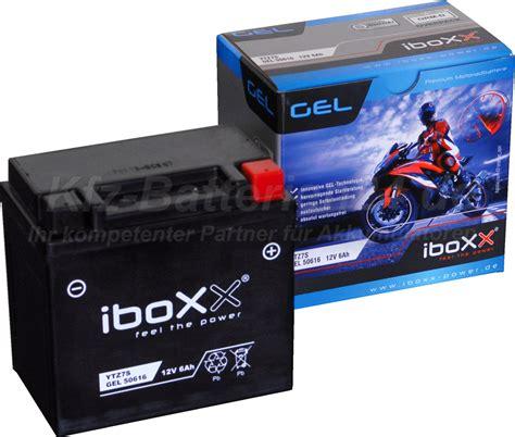 Motorradbatterie 6 Ah by Gel Motorradbatterie 12v 6ah 50616 Ytz7s