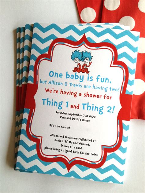 Thing 1 And Thing 2 Baby Shower Supplies by Dr Seuss Thing And Birthday Or Baby Show And