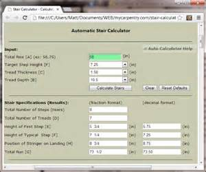 Stair stringer design calculator spreadsheet building stairs pictures