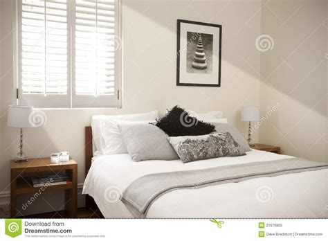 bedroom bed interior light royalty  stock photo