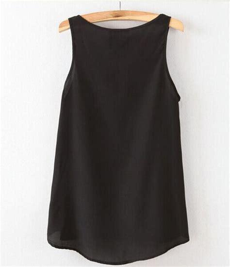 Blouse Atasan Wanita Style Pattern L 188460 Original Sale new fashion summer casual chiffon sleeveless vest t shirt top blouse ebay