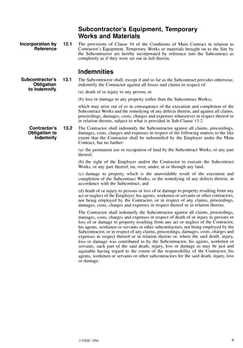 Letter Of Agreement For Subcontractor Fidic Conditions Of Subcontract Agreement