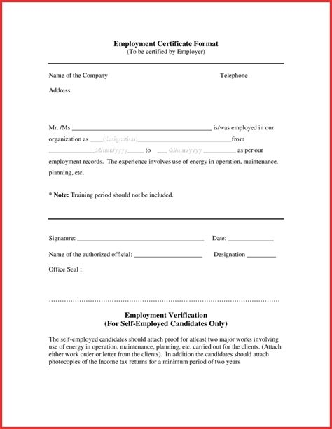 authorization letter format for address proof employment letter format pertamini co