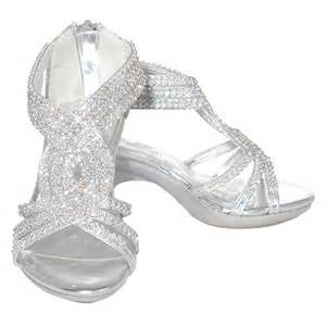 fabulous silver rhinestone band dress shoe toddler 9