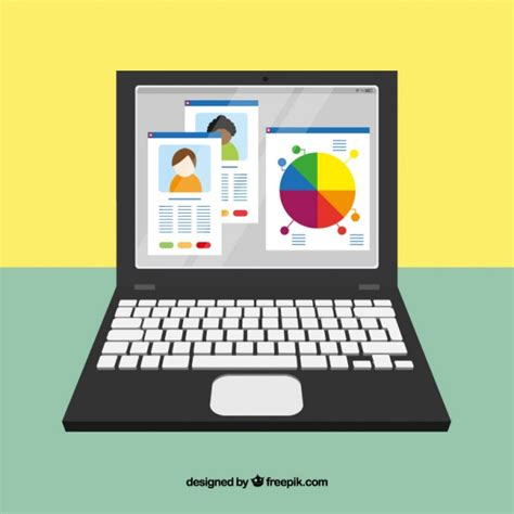 web software free for laptop laptop with web elements vector free