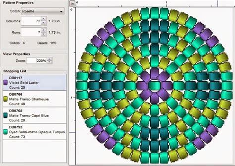 imaginesque beading pattern 42 teensy round motif