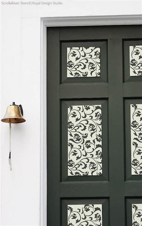 Paint Your Door with Stencil Designs   DIY Home Decorating