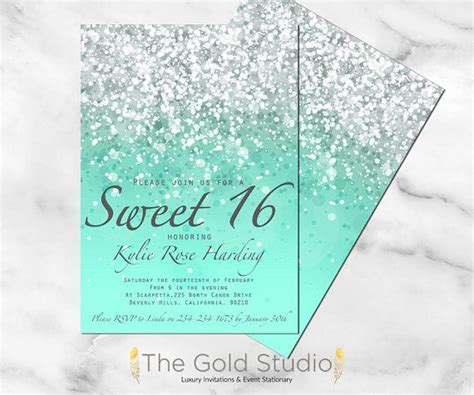 17 best ideas about sweet 16 invitations on pinterest