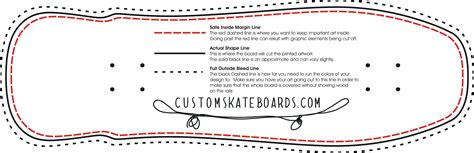 Skateboard Design Template For Every Shape And Size Wholesale Blanks And Deck Printing Skateboard Deck Design Template
