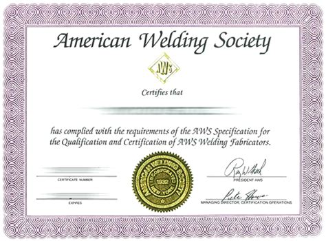 Welding Certificate Template by Welder Qualification Certificate Sle Image Collections