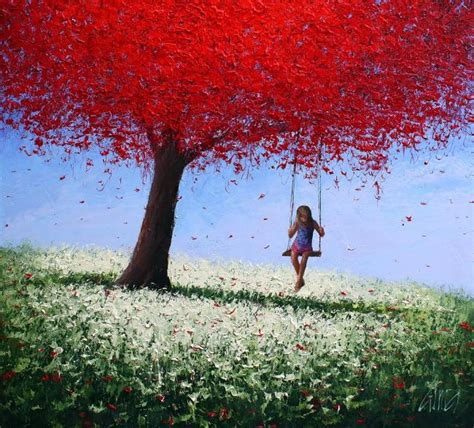 painting of woman on swing dima dmitriev the girl on a swing swing pinterest