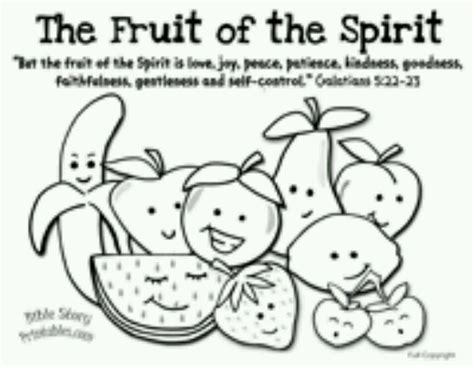 Fruit Of The Spirit Coloring Page Coloring Pages Pinterest