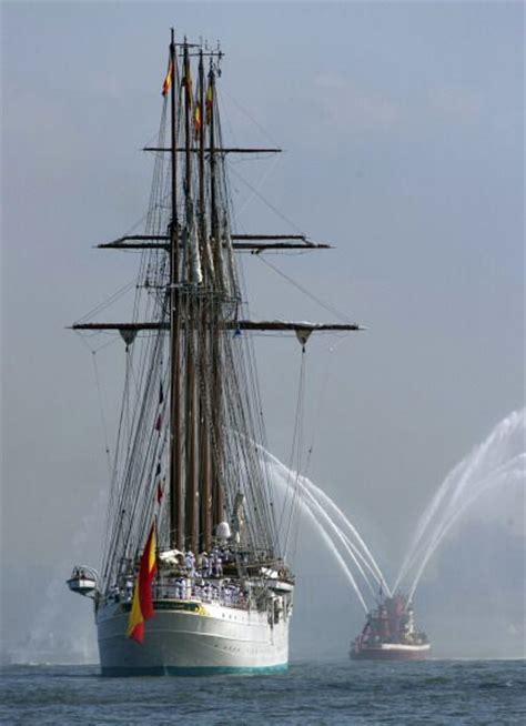 sailing boat in spanish the tall ship from spain elcano ship school of the