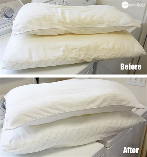 Can You Machine Wash Pillows by How To Wash Whiten Yellowed Pillows Dropps 174