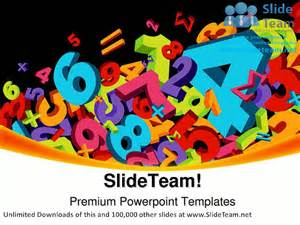 Math Powerpoint Templates For Teachers by Abstract Numbers Education Powerpoint Templates Themes And