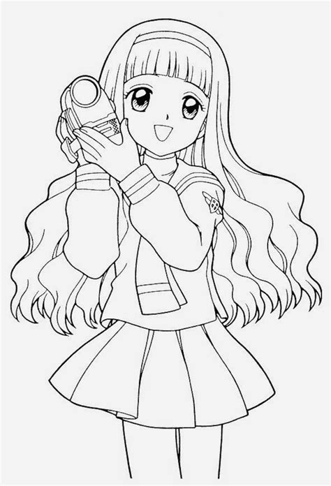 anime coloring pages online free coloring pages for kids