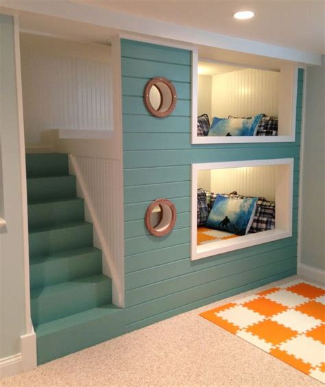 Theme Bunk Beds Nautical Bunk Beds Bunkbeds Basement Kid Spaces