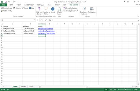 Spreadsheet Function by Srs1 Cubic Spline For Excel