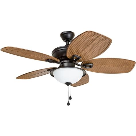 44 outdoor ceiling fan shop harbor cedar shoals 44 in rubbed bronze