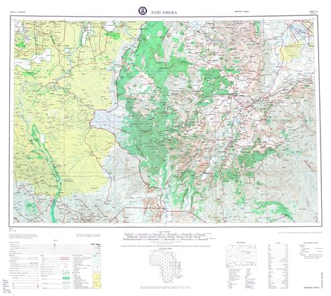 large scale map large scale detailed topographical map of addis ababa region vidiani maps of all