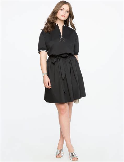 Tie Waist Dress tie waist dress with rib trim s plus size dresses