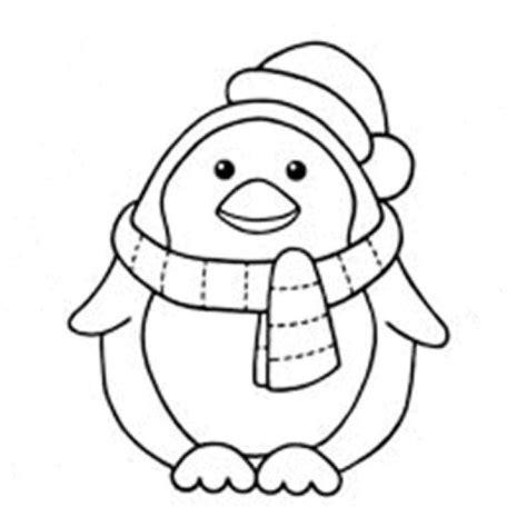 christmas penguin coloring pages coloring home