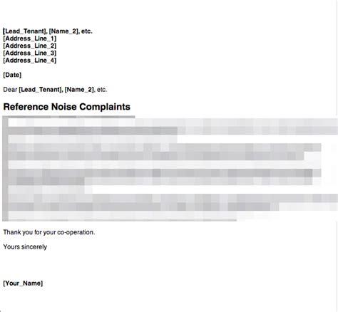 Complaint Letter Template Social Services Anti Social Behaviour Noise Complaint Letter 1 Grl
