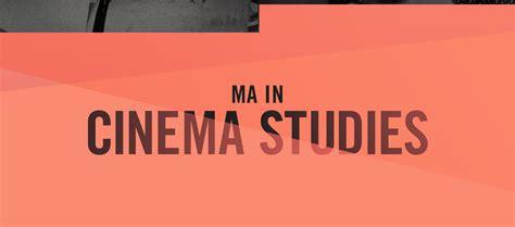 Mba Ma International Relations by Cinema Studies Barry R Feirstein Graduate School Of Cinema