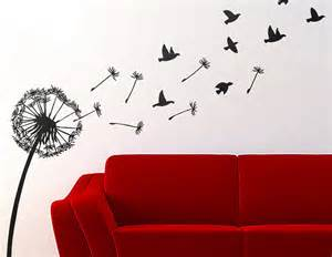 Wall Sticker Birds dandelion and birds wall sticker contemporary wall stickers