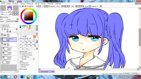 paint tool sai tutorial magic wand paint tool sai tutorial cara mewarnai rambut anime