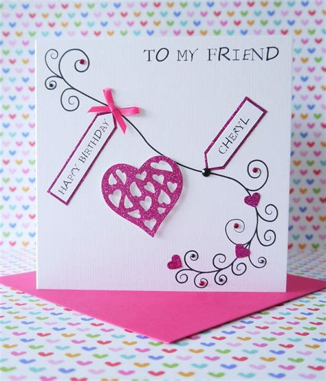 Handmade Birthday Cards For Friends - personalised handmade birthday card friend sisiter ebay