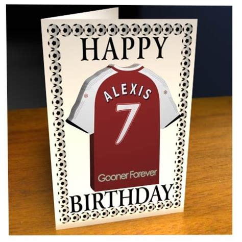 arsenal xmas cards personalised arsenal greeting cards nuts about football