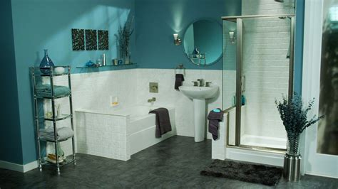 Open Shower Ideas grey and aqua bathroom decor thedancingparent com