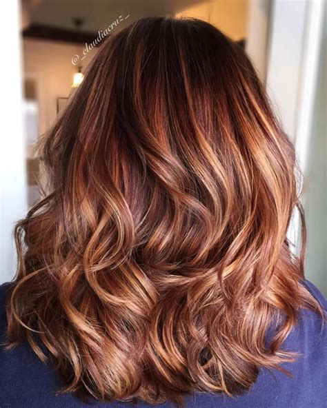 burgandy caramel and brown highlights 40 fresh trendy ideas for copper hair color burgundy