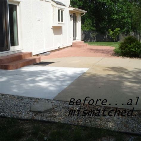 Painting Patio Concrete by Diy Painting Concrete Patio