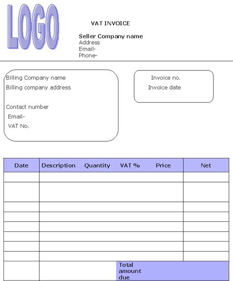 vat invoice template uk simple vat invoice robinhobbs info