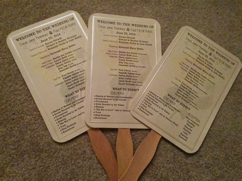 Paper Fan Wedding Programs « Do It Yourself N Save