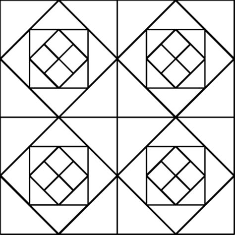 triangle pattern coloring page tessellation with squares and triangles coloring page
