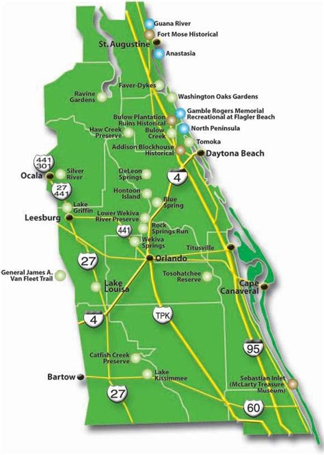 florida state parks map kathygates central florida state parks