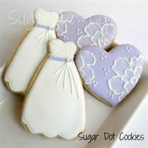 bridal shower cookies hearts and gowns
