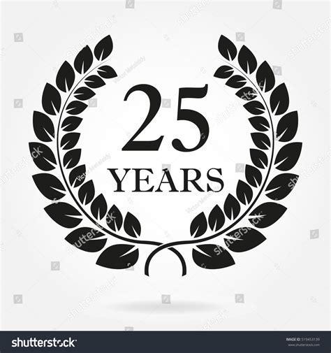25 Years Anniversary Birthday Icon 25 Stock Vector