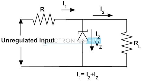 circuit diagram for zener diode as voltage regulator zener diode as voltage regulator and its v i characteristics