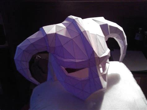 Iron Helmet Papercraft - skyrim pepakura iron helmet by zombiegrimm on deviantart
