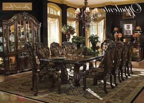 formal dining room sets with china cabinet oppulente luxury 13 piece formal dining room set w china