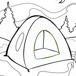 tent coloring page free printable online tent coloring