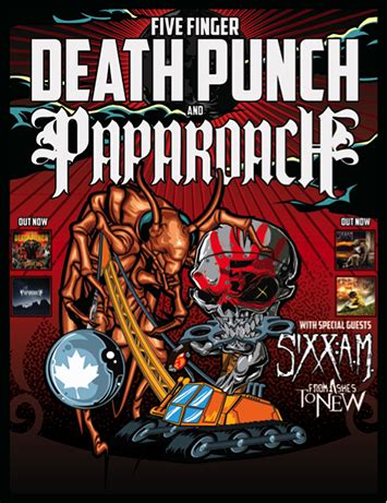 five finger death punch ashes five finger death punch paparoach with special guests