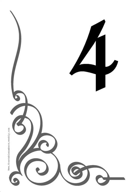 Free Table Number Templates 4x6 Table In Style With Our Beautiful Printable Diy Table Number Table Number Template