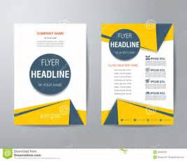 simple flyer template home design abstract triangle flyer design template stock