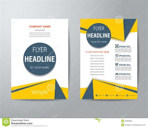 design flyer template home design abstract triangle flyer design template stock